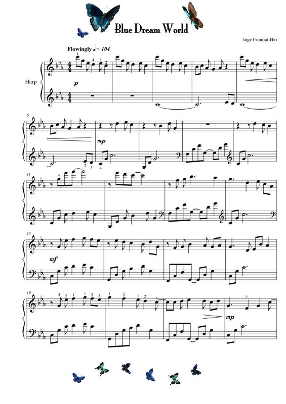 muziek bladzijde