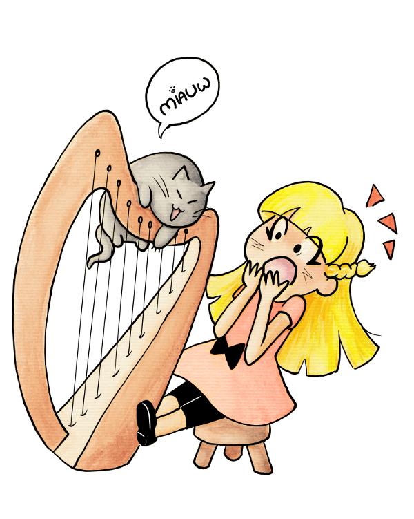 Doppie op de harp